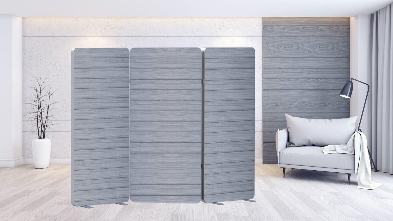 Trennwandsystem Paravent als Sichtschutz in einem Zimmer.