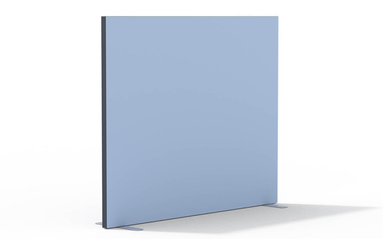 Trennwand Basic Flachfuß in anthrazit auf weißem Hintergrund