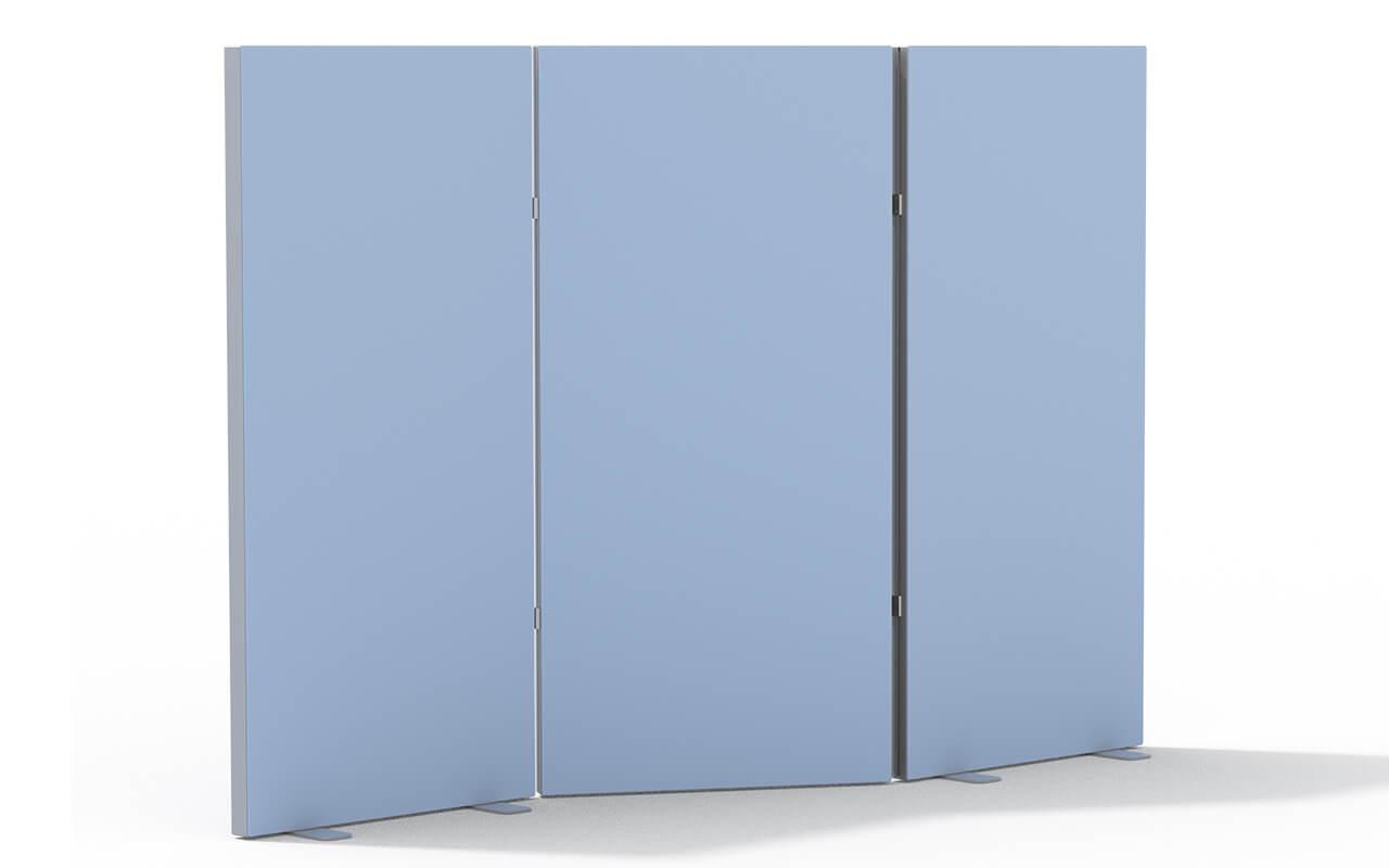 Paravent Trennwandsystem Basic bestehen aus 3 Trenndwandteilen
