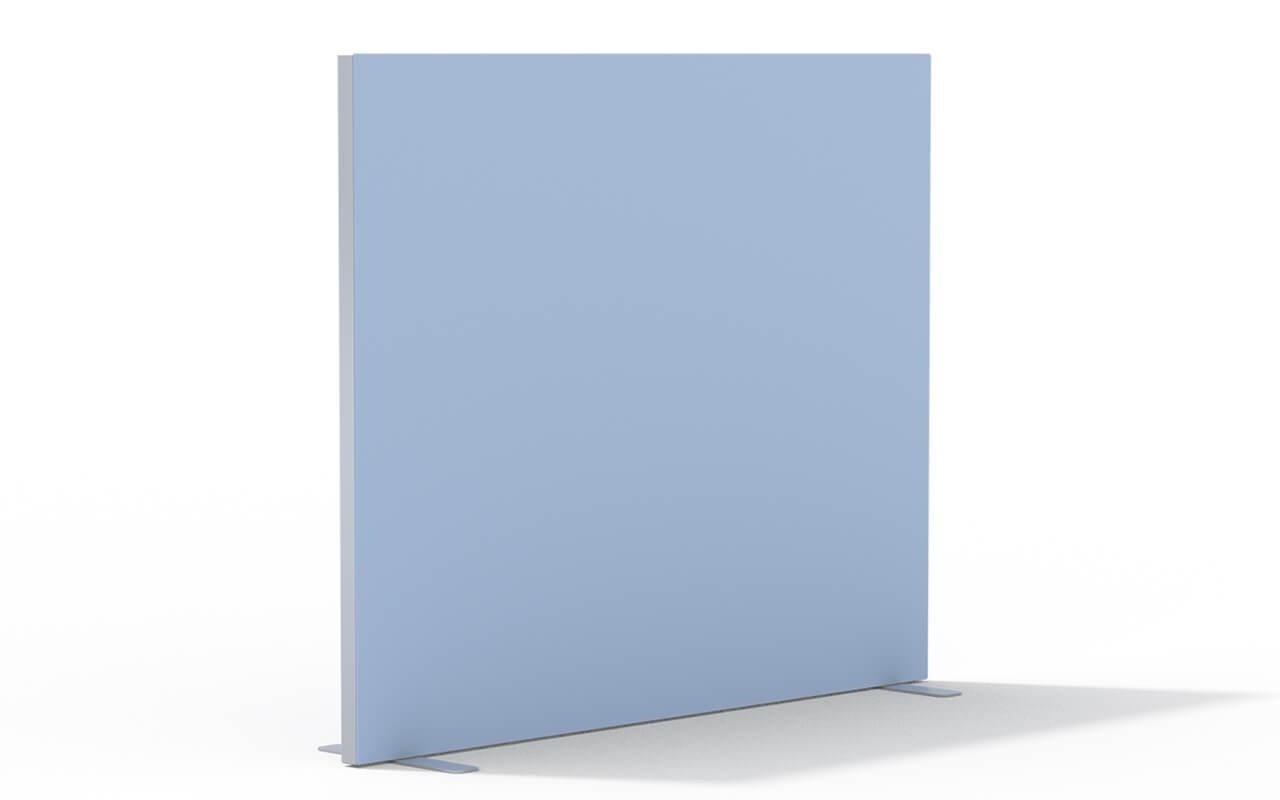 Trennwand Basic Flachfuß in aluminium auf weißem Hintergrund